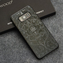 YFWOOD Wood Carving Flower Case for Samsung Galaxy S8 Plus Cover Unique Bamboo Phone Cases for Samsung S8 Coque(China)