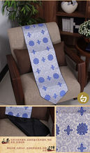 wholesale Chinese blue and white porcelain Handmade SILK TABLE RUNNER BED FLAG(China)