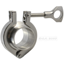 "Pipe Fittings 2 Pcs 45MM 1-3/4"" 1.75"" OD Sanitary Weld Ferrule + Tri Clamp + PTFE Gasket Stainless Steel SUS SS 316"