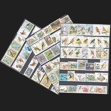 Topic Birds , 100 pieces/lot No Repeat ,  All From The World Wide Have Used With Post Mark Birds Postage Stamps Collecting