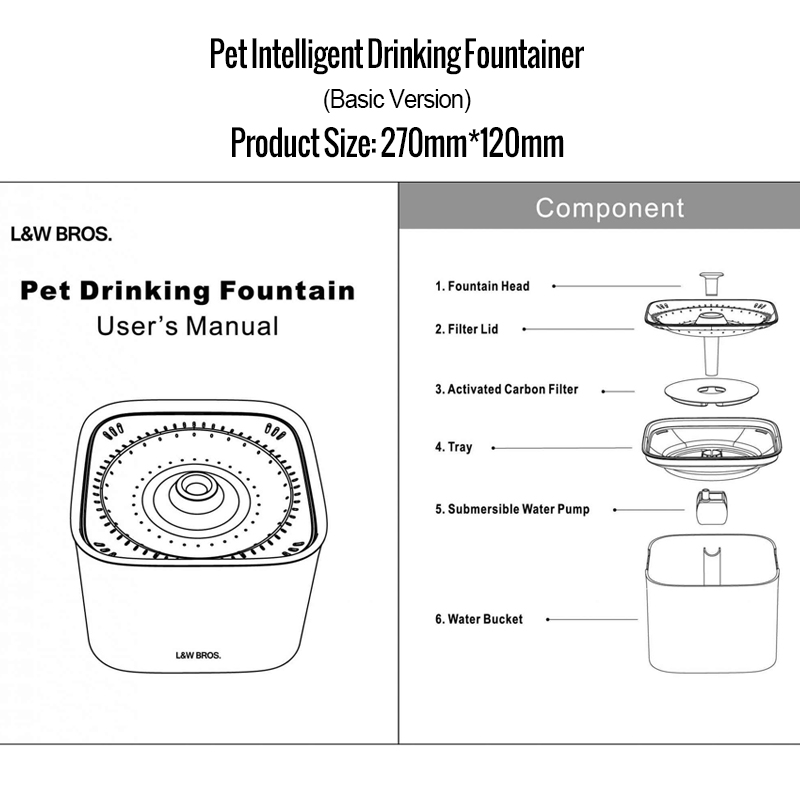 Radar Sensing Cat Water Fountain 2L Electric Pet Fountain Automatic Dog Water Dispenser Smart Dog Drinking Bowl (1)