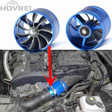 Car Modification Turbo Air Intake Turbine Gas Fuel Saver Fan Turbo Supercharger Turbine Fit for Air Intake Hose Diameter 65-74mm
