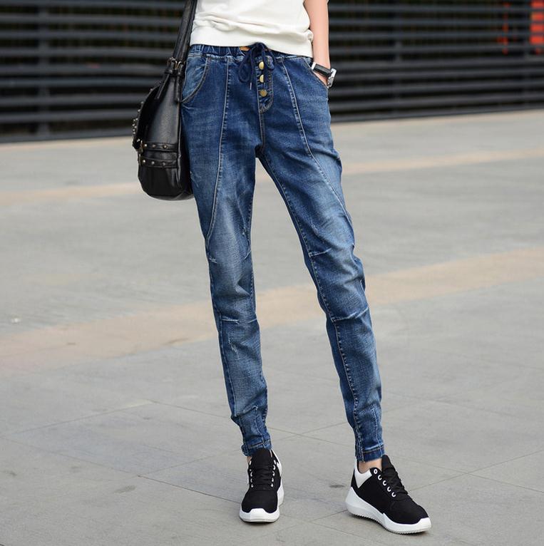 New style women jeans Loose big size Hip hop pants  autumn/winter  pants trousers SIZE 26-40Îäåæäà è àêñåññóàðû<br><br>