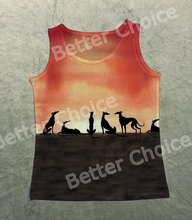Track Ship+New Arrival Fresh Vintage Vest Tanks Tank Tops Fastest Greadog Greyhound Grey Hound Dog Under Orange Sunset 1387