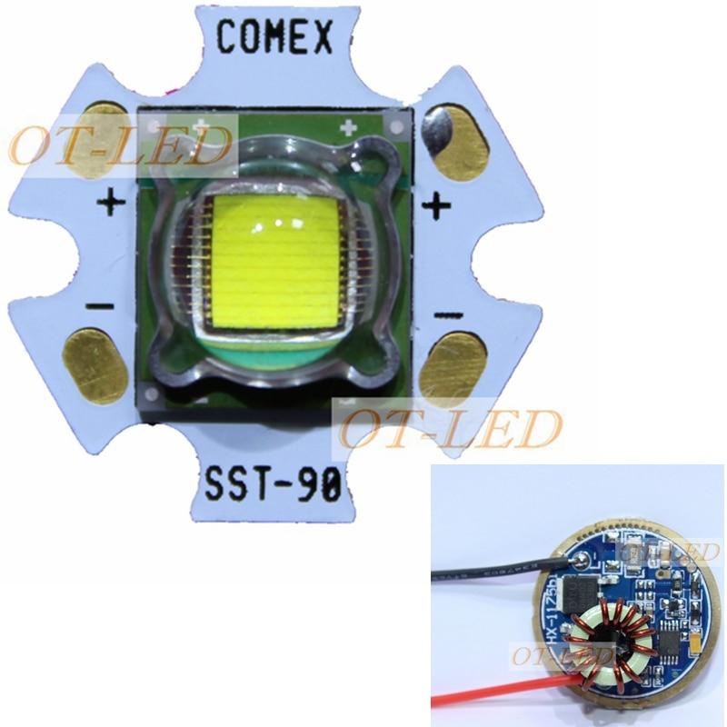 1PCS Luminus SST-90 30W LED Emitter 2250LM White 6500K Module PCB 20mm Copper +SST-90 LED Driver Board<br>