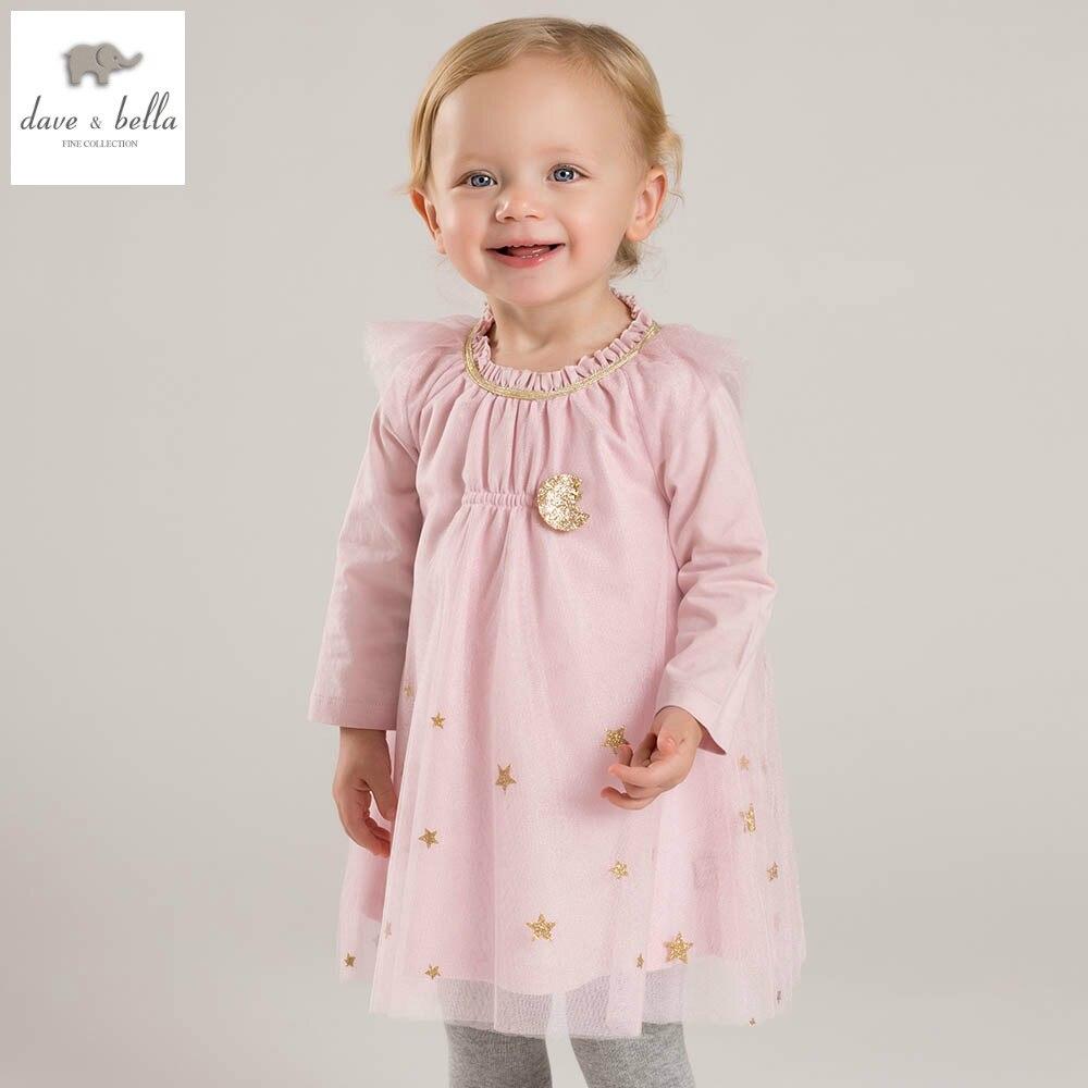 DB5032 davebella spring girls mesh dress princess pink dress fancy dress baby girls boutique dress <br>