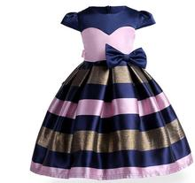 Factory direct new fashion 3-10 year old girl striped dress