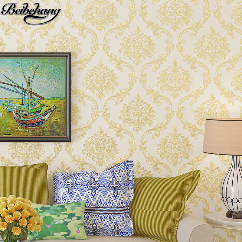 beibehang European - style 3D Stereo Stencil Embossed Wallpaper Non - woven Living Room Bedroom TV Background Wallpaper<br>