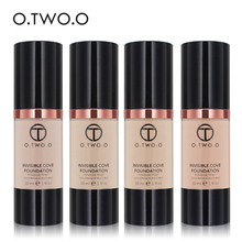 O.TWO.O Brand Liquid Foundation Matte Weightless Ultra Liquid Makeup Face Foundation Brighten Concealer Base Foundation Cream(China)