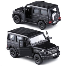 Scale 1:36 high simulation car model,alloy pull back G63AMG suv cars,Matte black Metal toy,free shipping