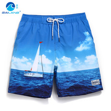 Buy Gailang summer board shorts loose swimwear men swimming trunks liner mesh sweat sexy swimsuits mens bermudas beach surf praia