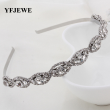 YFJEWE Fashion Crystal Head Chain Rhinestone Hair Band Girl Hairband Accessories Party Drop Shipping Women Girl's Gift H046