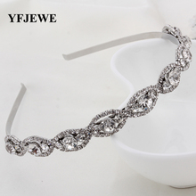 YFJEWE Fashion Crystal Head Chain Rhinestone Hair Band Girl Hairband Accessories Party Drop Shipping Women Girl's Gift H046(China)