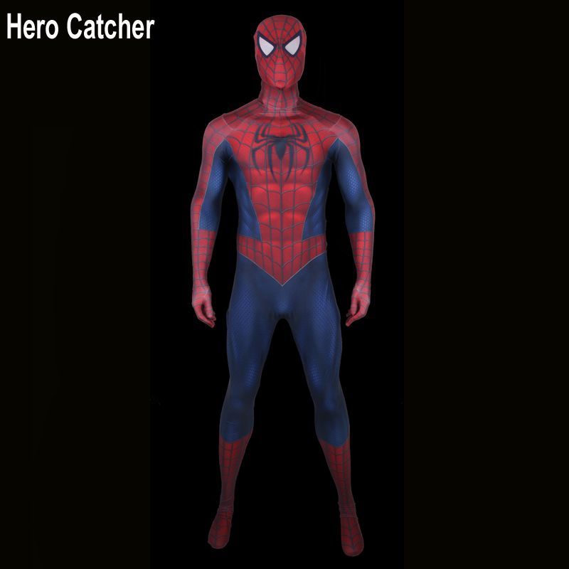 Hero Catcher Top Quality 3D Print Spideman Cosplay Costume Tobey Spiderman Spandex Suit Raimi Spiderman Costume Custome For Man