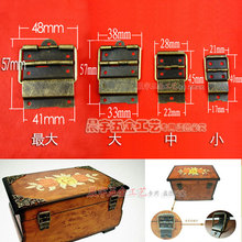 21*40*17MM 50pcs antique brass wooden jewelry box hinges small box cabinet bronze hinge hardware accessoreis