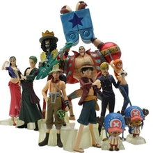 10pcs/lot Anime Figure One Piece Action Figure Luffy Nami Roronoa Zoro Hand-done Dolls Collection One Piece 2 YEARS LATER