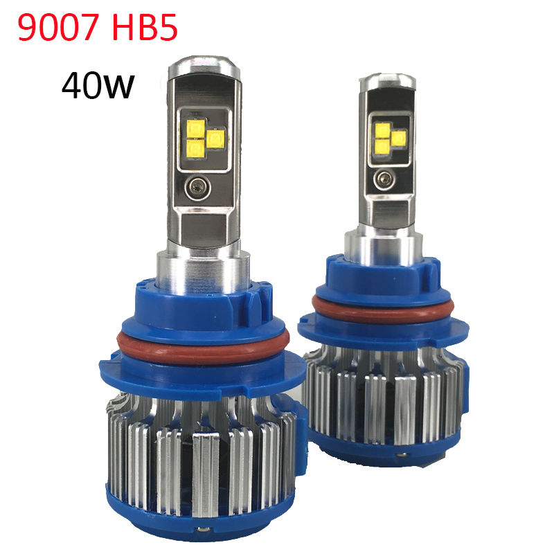 9007 HB5 LED Car Headlight Bulbs 80W 6000LM High Power LED Headlight 6000K Led Lamp 12V Kit for High Light and Low Beam Hi/Lo<br>