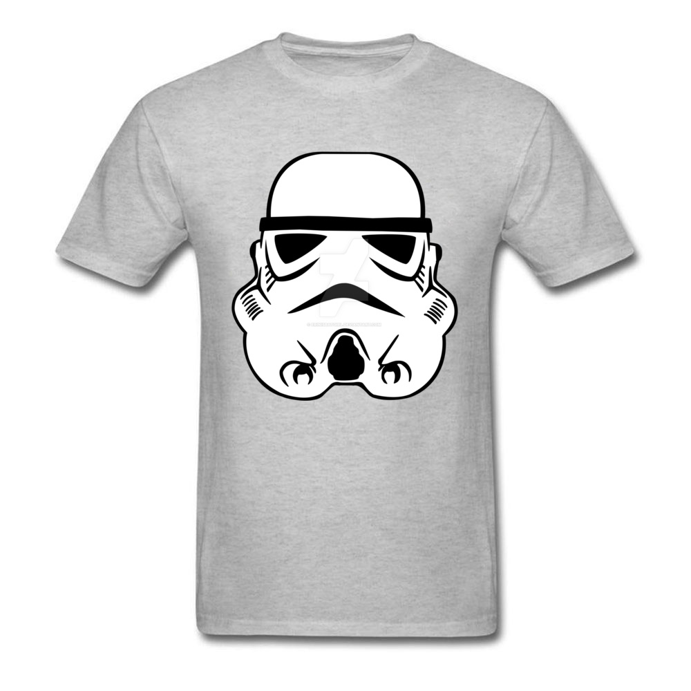 Newest Stormtrooper 10 Short Sleeve T-Shirt Summer/Autumn Round Neck Pure Cotton Tops & Tees for Men Tops Shirt Simple Style Stormtrooper 10 grey