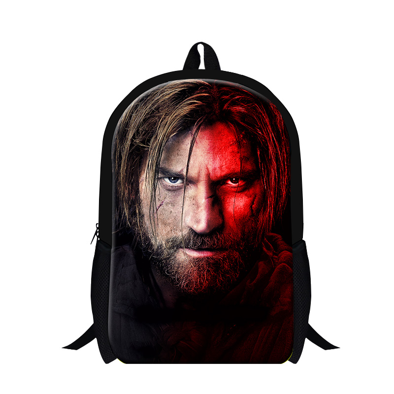 Game of Thrones 3D Printing Backpacks Trend School Youth Schoolbag Cartoon New Children Double Shoulder Book Bags Free Shipping<br><br>Aliexpress
