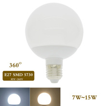 E27 LED Ball Lamp 7W 9W 15W LED Light 85-265V Spotlights Bulb SMD 5730 Lampada LED Global Bulb Chandelier 360 Degree Bombillas