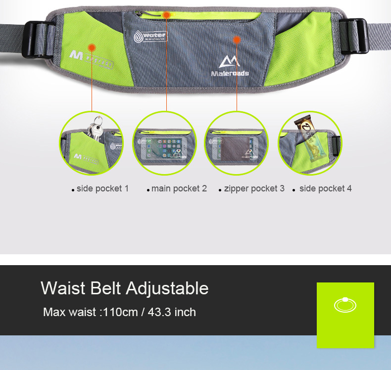 Durable Polyester Adjustable Waist Band 26 to 55 Walking Hiking Exercise Belt Bag Pack Adjustable Waist Band 26 to 55 Unisex Yellow Women JJT Designs Large Two Pocket Waist Bag Fanny Pack Men Running Exercise Belt Bag Pack Running