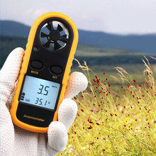 Smart Anemometer Digital Hand-held Wind Speed Gauge Meter Thermo Anemometer And Infrared Thermometer With LCD Backlight Display