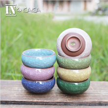 4pcs home micro garden decoration mini round juicy planter flowers vase flowerpots container small bonsai pot DIY accessories