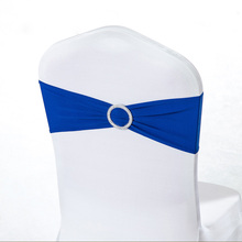 Wholesale 100pcs/lot Spandex Lycra Wedding Chair Cover Sash Bands Wedding Party Birthday Banquet Chair Sashes Decoration(China)