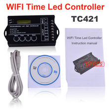 TC421 WiFi time programmable led controller tc420 time led controller for 5050 3528 5630 led strips(China)