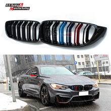 4 series f32 f33 f36 f80 f82 replacement part M-color dual slat front kidney grill grille for bmw 4 series M3 M4 2014 15 16