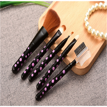 2017 Hot sale Makeup Brushes 5Pcs Makeup Eyeshadow Leopard Brushes Lipstick Cosmetic Brushes Set Tool