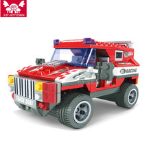 JOY-JOYTOWN  Transport Cruiser SUV 263pcs Racing Car Model Building Block Sets Educational DIY Bricks Toys