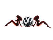 Car Stickers PVC Flexible  3D Funny Belle Car Decoration Sticker for Volkswagen Nissan Toyota  Any Car Body SDT010