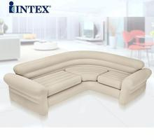 double coupe sofa lazy inflatable sofa bed corner open sunset recliner, 2 or 3 people space big size air bean bag chair couch(China)