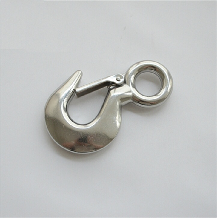 1T 1000kg Authentic 304 Stainless Steel Eye Hook rotating cargo hook Free Shipping<br>