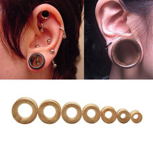 2 Pcs New Bamboo Wood Ear Plug Tunnel Expander Flesh Earring Gauges Piercings Body Jewelry KQS