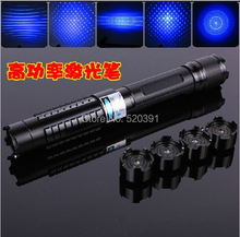 Strong Power Military Blue Laser Pointer 10000mw 10W 450nm Burn Match Dry Wood/Black/Burn Cigarettes+5 Star Heads+Charger+GIFT(China)