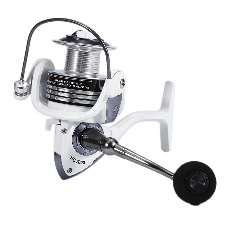 Coil Wire-Cup Spinning-Reel Large Spool Rocker-Arm Carp Metal Hc1000-7000-Series title=