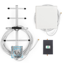 65dB LTE 4G 700MHz Cell phone Signal Booster Mobile Phone Repeater Amplifier with Directional Panel Antenna and Yagi Antenna