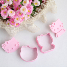 2PCS Cute stereo KT CAT shape mold sugar Arts set Fondant Cake tools/cookie cutters hello kitty cake mold(China)