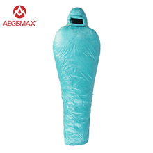 Aegismax 95% Goose Down Winter Camping Sleeping Bag Mummy Adult Ultralight Sleeping bags waterproof WIND HARD GHOST(China)