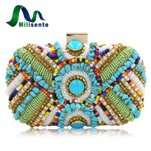 Milisente Women Clutches Purses Female Beaded Bags Ladies Day Clutch Bag