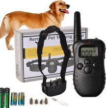 Remote LCD 100LV 300Meter Electric Shock Vibrate Pet Dog Training Collar Goplus PS5202(China)