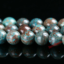 Diy Natural Agate Stone Blue decorative pattern agate beads Round Loose beads ball 4 6 8 10 12MM Jewelry bracelet making