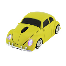 Xmas Gift 3D USB Optical Wireless Mouse Car VW Beetle Shape Cord Mause Mice Bug Beatles Car Gaming Mouse for PC Laptop & Desktop