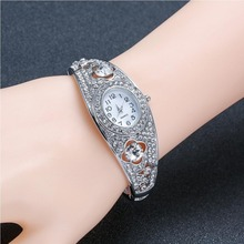 Hot Feast Nice Jewelry Full Star Platinum Jewelry Watch Simple Micro Inlaid Quartz Bracelet Table for Party Banquet Jewelry