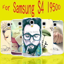 For Samsung Galaxy S4 S IV I9500 Case Ariel Skull Deer Balloon Fish Heart Lotus Color Painting Transparent Hard Cell Phone Case