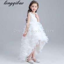 Top Quality girls long - sleeved dress princess children evening dress flowers girl clothes wedding dress