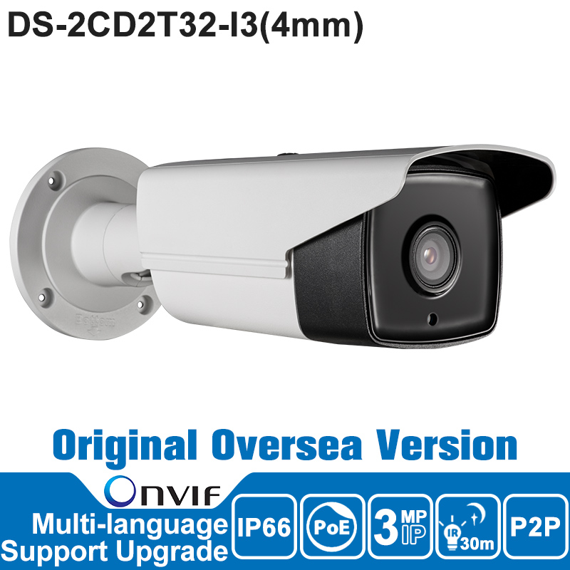 Hikvision IP Camera 3MP 4mm DS-2CD2T32-I3 Oriangal Oversea Version IP Camera POE New EXIR Bullet Security Outdoor Camera<br><br>Aliexpress