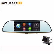 "Dealcoo 7"" 3G Car DVR Camera Android 5.0 Rearview Mirror GPS Navigation Dual Lens FHD 1080P Video Recorder Automobile Dash cam"